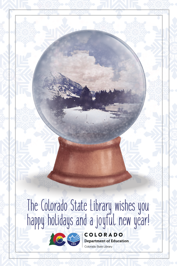 Snow globe with mountain scene inside